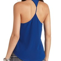 Skinny Racerback High-Low Tank Top