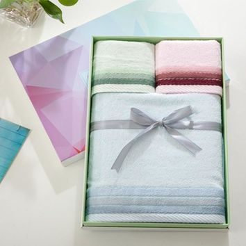 Adult 100% Bamboo Fiber, Super Absorbent,  Hand and  Face  3 piece Bath Towel Gift Set with or without Box . This would make an Awesome wedding gift, Baby Shower or Birthday gift