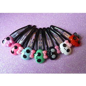 1 Pair Skulls Hair Clips