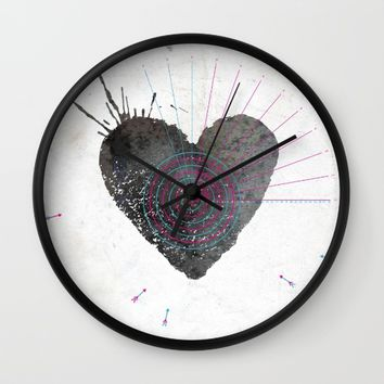 your heart is my target Wall Clock by Migmig