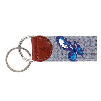 Charlotte Hornets Needlepoint Key Fob in Grey by Smathers & Branson