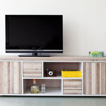No.7 - Television cabinet/ media station /low dresser featuring rustic reclaimed wood elements
