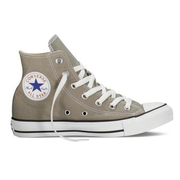 Converse Trending Women Men Leisure High Help Canvas Flats Sport Running Shoes Sneakers Grey I