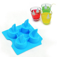 3D Passionate Shark Fin Ice Cream Pudding Jelly Candy Mold Tray Cube Mould