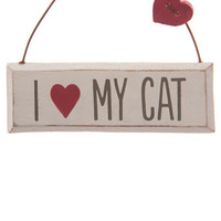 Sass & Belle 'I love my cat' plaque - decorative accessories - Home, Lighting & Furniture