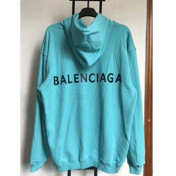 ONETOW balenciaga long sleeve hedging pullover sweater hoodies blue i cn cfpfgys 2