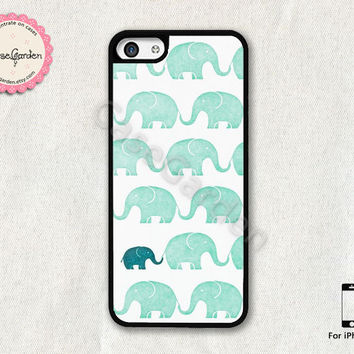 Cute Elephant iPhone 5C Case, iPhone Case, iPhone Hard Case, iPhone 5C Cover