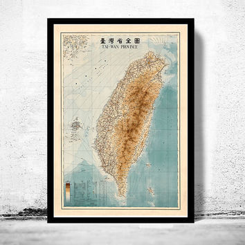 Old Map of Taiwan