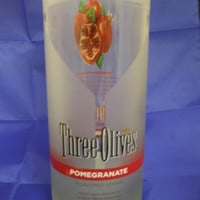 25 oz. Pure Soy Candle in Reclaimed Three Olives Pomegranate Bottle - Your Choice of Scent
