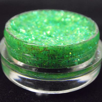 Glitter Gel Eyeliner Eye Shadow in Calla Lily green Makeup