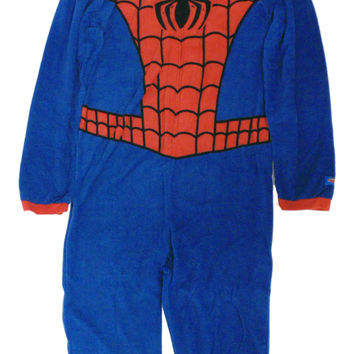 Spiderman Mens Union Suit with Hood Eyes