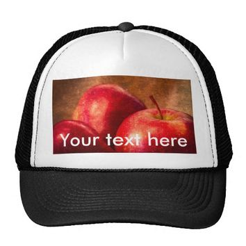 Three Red Apples Trucker Hat