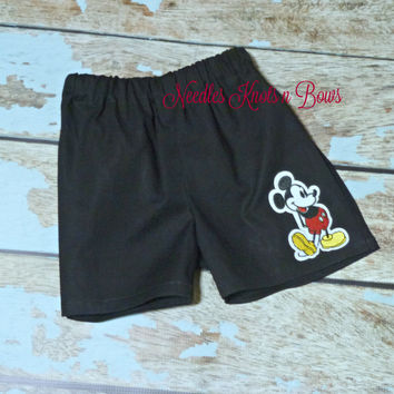 Boys Mickey Mouse Shorts, Boys Clothes, Baby Boys Clothes, Shorts, Toddlers, Black Mickey Mouse Shorts