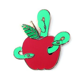 Bad Apple Lapel Pin