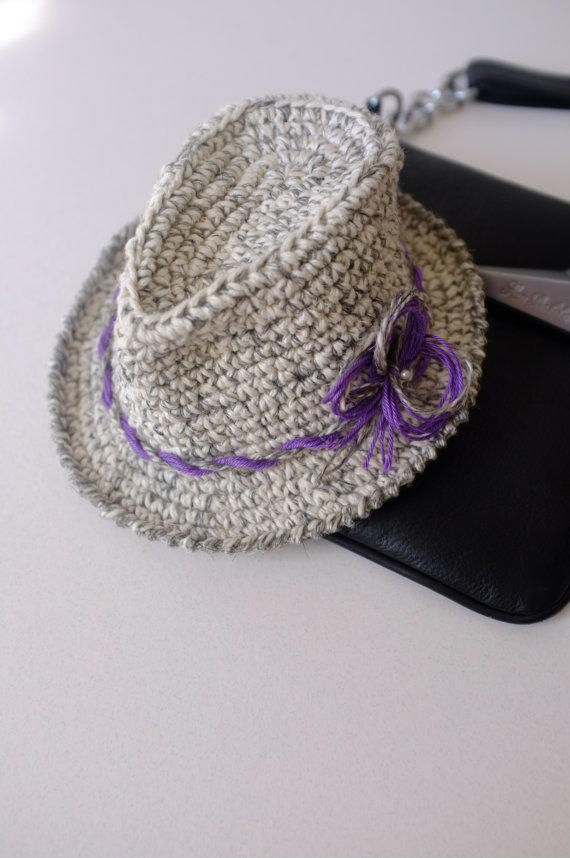 Baby Girl Fedora Hat Toddler Crochet From Milazshop On Etsy