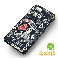 punk black band collage-1nay for iPhone 6S case, iPhone 5s case, iPhone 6 case, iPhone 4S, Samsung S6 Edge