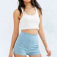 BDG High-Rise Seamed Pin-Up Short - Sky Blue- Light Blue