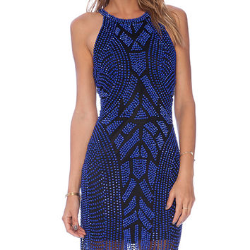 Parker Audrey Embellished Dress in Blue