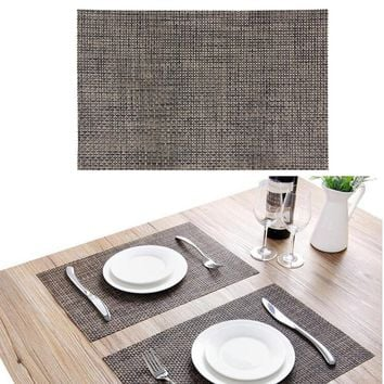 Placemat Fashion Waterproof PVC Dining Table Mat Disc Pads Bowl Tableware Place Pad Coasters Table Cloth Slip-resistant Pad