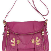 Marc by Marc Jacobs | Natasha Petal to the Metal leather shoulder bag | NET-A-PORTER.COM