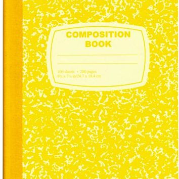 Yellow Composition Notebook - 100 Sheets - 48 Units