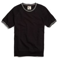 Piped Raglan Sweatshirt in Black