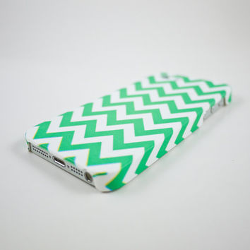 Teal / Mint Chevron iPhone 5 Case, iPhone 5s Case, iPhone 5 Cover, Hard iPhone 5 Case