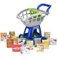 15-Piece Deluxe Shopping Cart with Play Food