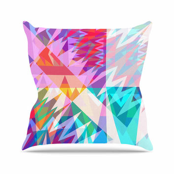 "Miranda Mol ""Triangle Feast"" Abstract Geometric Throw Pillow"