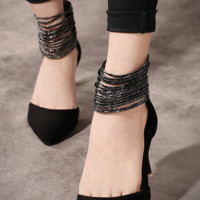 Grommets High Heeled Shoes