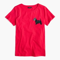 Sequin terrier T-shirt