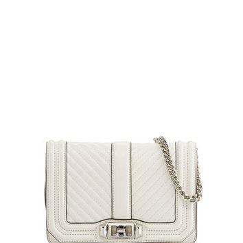 Rebecca Minkoff Love Small Chevron Quilted Crossbody Bag | Neiman Marcus