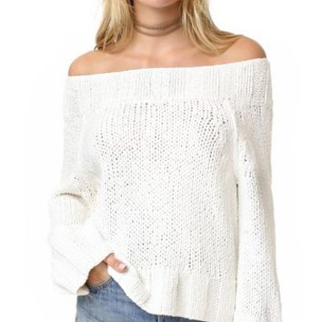 Beachy Slouchy Pullover Sweater