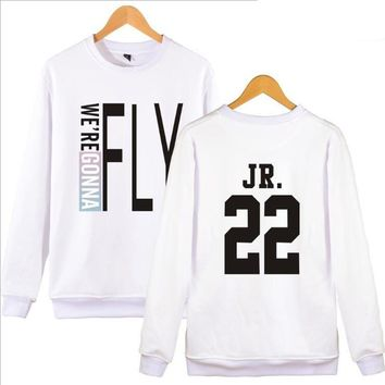 kpop GOT7 FLY IN Harajuku Sweatshirt Couple Clothes Korean Letter Print Long Sleeve Loose Crewneck Hoodies Pullovers Sportswear