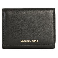 MICHAEL MICHAEL KORS Liane Small Leather Card Holder Wallet in Black