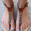 On the Town Sandal - Whiskey