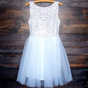 sugar plum dazzling white sequin darling party dress