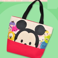 "Disney Tsum Tsum Character Mickey & Friends 9"" Tote Bag"