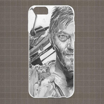 Daryl Dixon in The Walking Dead iPhone 4/4S, 5/5S, 5C Series Hard Plastic Case