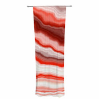 "KESS Original ""Arizona Sky"" Red White Decorative Sheer Curtain"