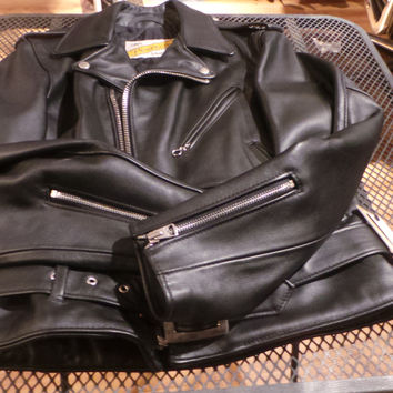 Schott Nyc- Perfecto-One-Star-Leather-Motorcycle 613 Made in Usa