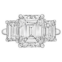Tiffany & Co. 4.00 Carat Emerald-Cut Diamond Platinum Engagement Ring