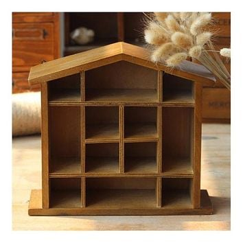 House Shape Storage Rack Table Decoration