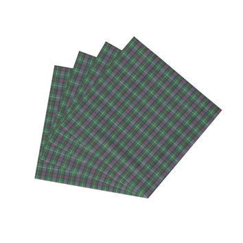 Green & Black Tartan Plaid Napkin Set of 4