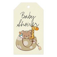 Baby Animals Baby Shower Gift Tags