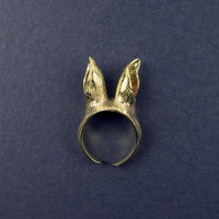 Bunny Band Brass Ring