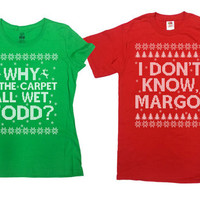 Matching Christmas T Shirts Christmas Vacation Couples Gifts Christmas Presents His And Her TShirts Funny Holiday Xmas Outfits - SA695-696