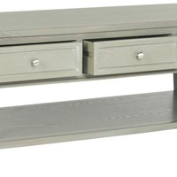 Manelin Coffee Table With Storage Drawers Ash Grey