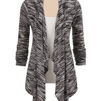black and white striped lightweight cardiwrap
