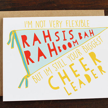 Encouragement Card, Biggest Cheerleader, Friend Card, Best Friend Card, Cheerleader Card, Graduation Card, Thinking Of You Card